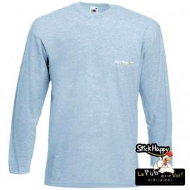 Flocage T-shirt Manche longue gris- StickHappy.com