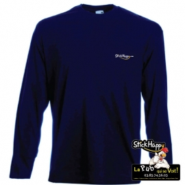 Flocage T-shirt Manche longue bleu- StickHappy.com