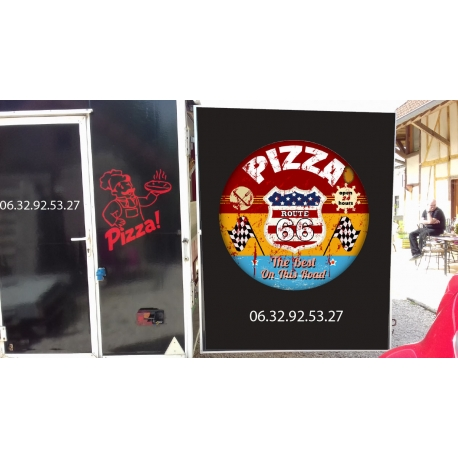 Habillage spécial pour Remorque à Pizza