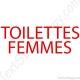 Stickers porte toilettes femme