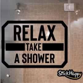 Stickers décoration porte de douche