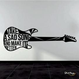 Stickers guitare decoration murale