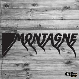 Stickers texte montagne