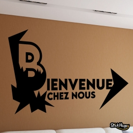 Stickers Bienvenue chez nous salon
