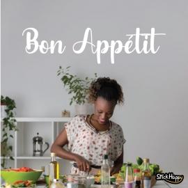 Stickers phrase Bon Appétit