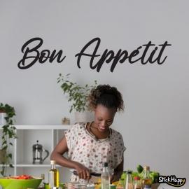 Stickers texte Bon Appétit
